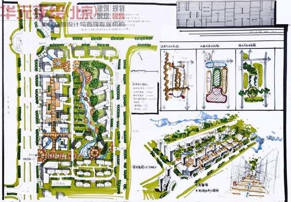 城市雕塑手绘快题设计,城市广场设计快题手绘,城市景观快题设计_大