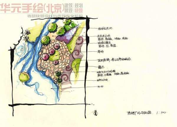 华元手绘景观快题抄图精品选1(2011年度)
