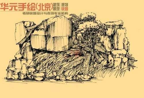 手绘作品-环艺室内手绘作品-华元手绘官网|手绘培训