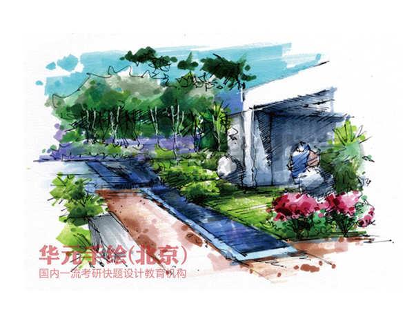手绘作品-景观园林手绘作品-华元手绘官网|手绘培训