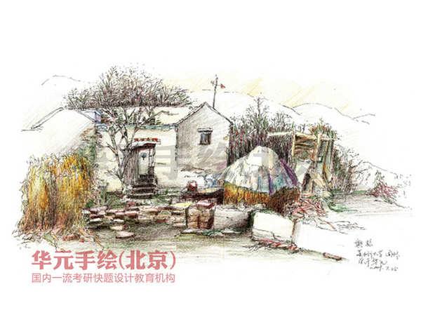 姚松 苏州大学10级园林研究生-手绘作品-景观园林手绘