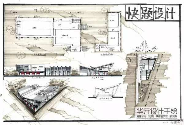 华元手绘 规划快题设计
