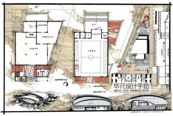 南京华元手绘 建筑快题设计