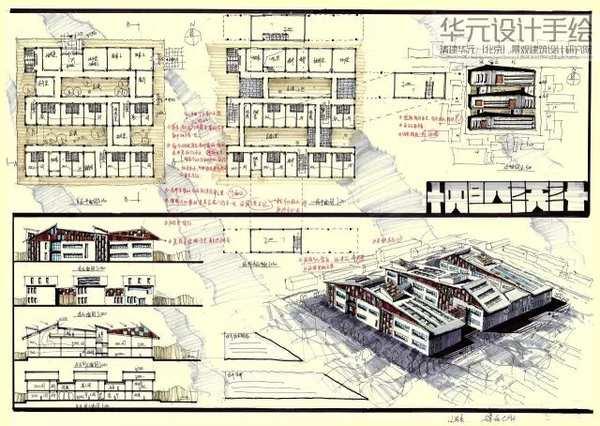 南京华元手绘 建筑手绘培训