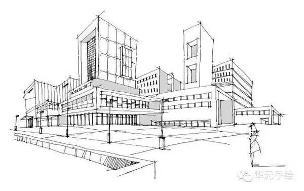 北京地标性建筑手绘